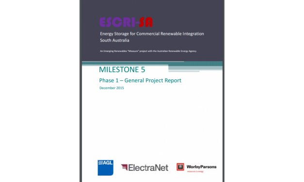 New report: utility-scale battery storage