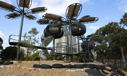 Melbourne solar PV playground buzzes on petals power