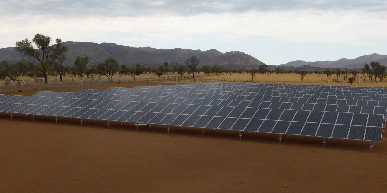 Installers at work in a barren land … how the team behind the NT's 10MW SETuP solar project delivered 25 sites on time
