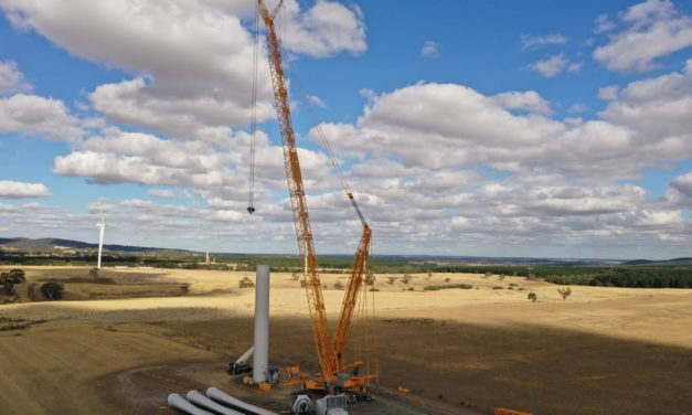 Look who's doing the heavy lifting at Lal Lal Wind Farm