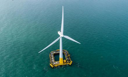 Floating wind turbines get their sea legs